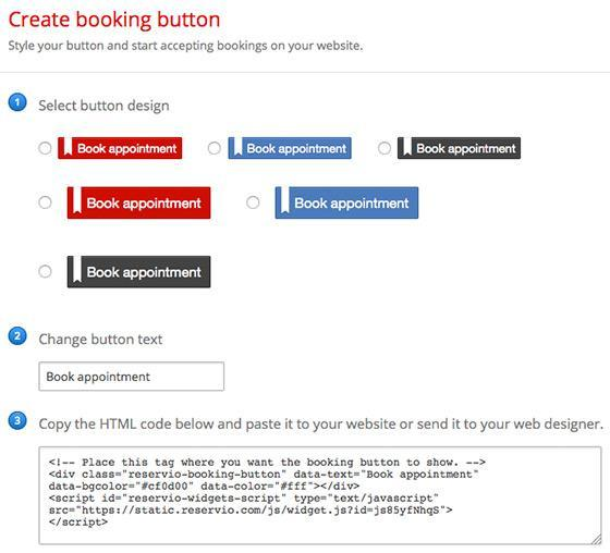 Guide image - Booking Button