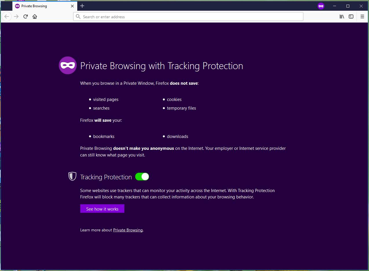 Using Incognito/In-private Browsing : EKM