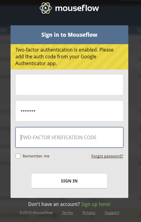 Two-factor authentication 3