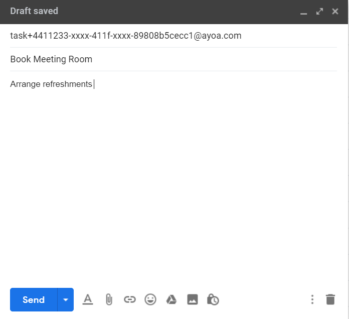 Emailing Tasks In 1