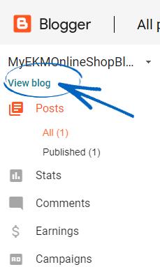 Creating a Blogger Blog : EKM