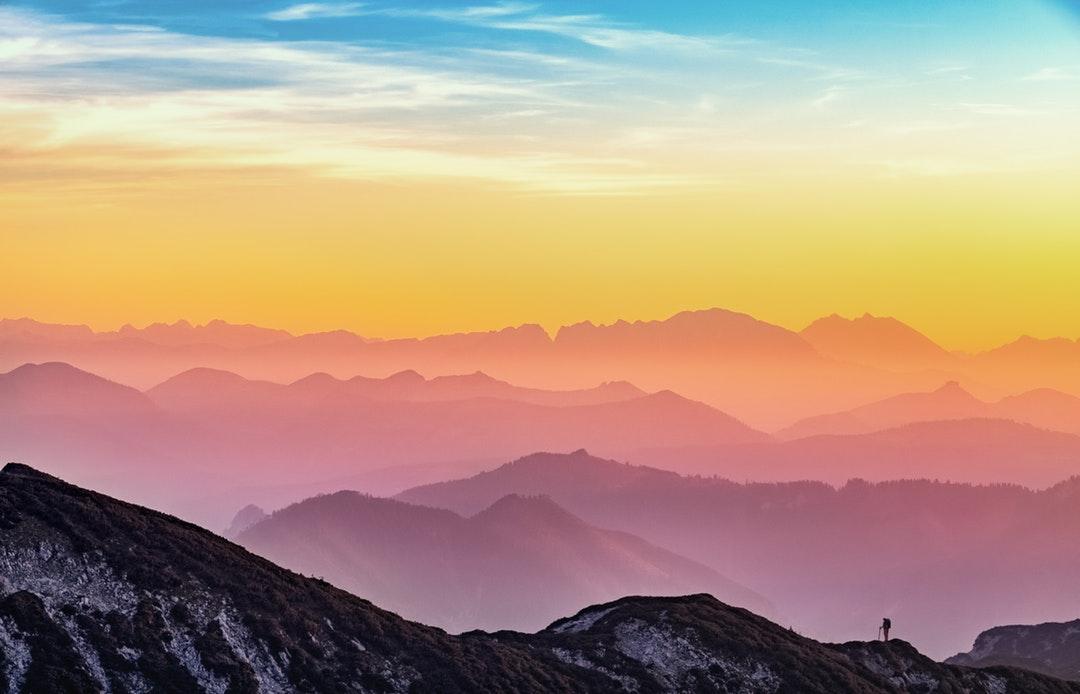 Colourful mountain horizons