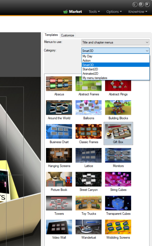 menu screen