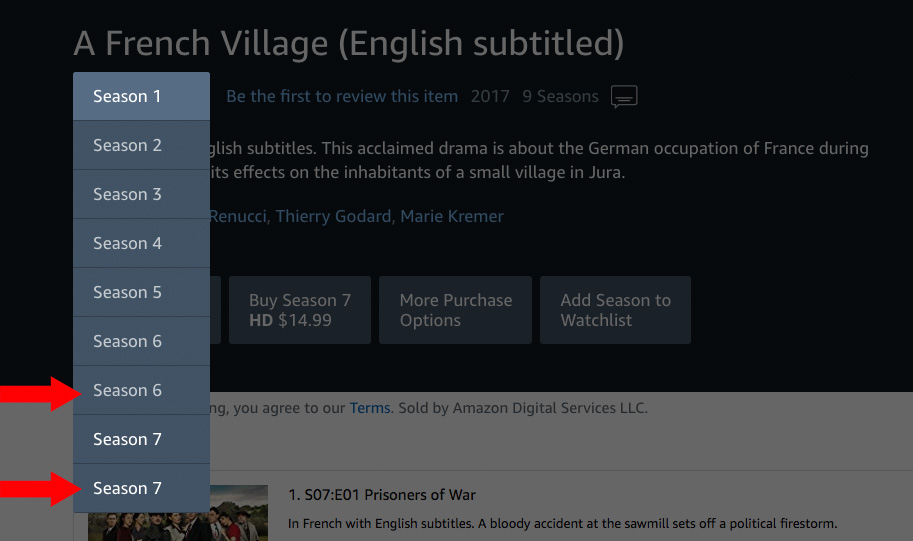 MHz Choice on Amazon Prime error
