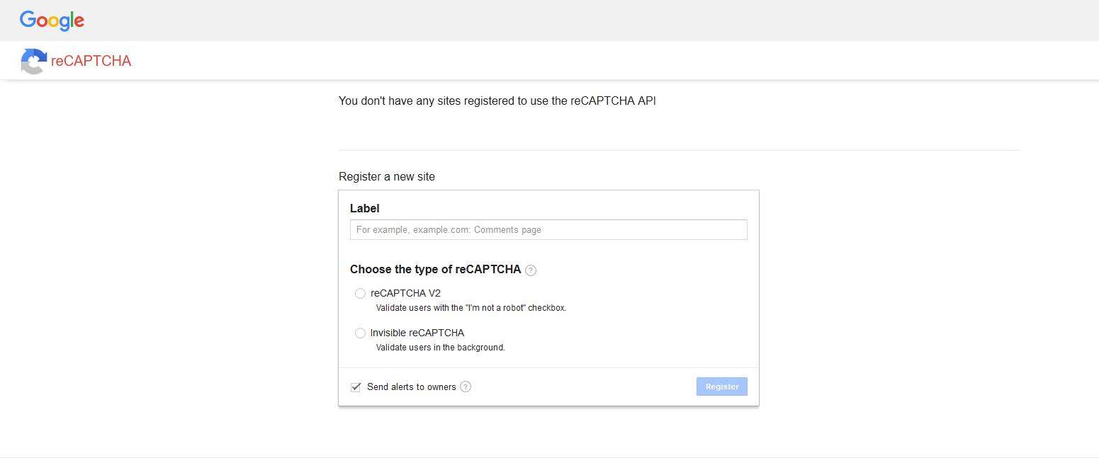Fix captcha error Invalid domain for site key : PinnacleCart