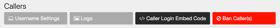 On your admin panel under Callers, find the option for Username Settings.