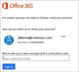 When you sign in with 2-step verification, you'll be prompted for a code.