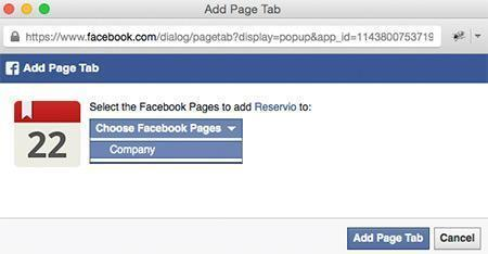 Guide image - Adding a Facebook Booking