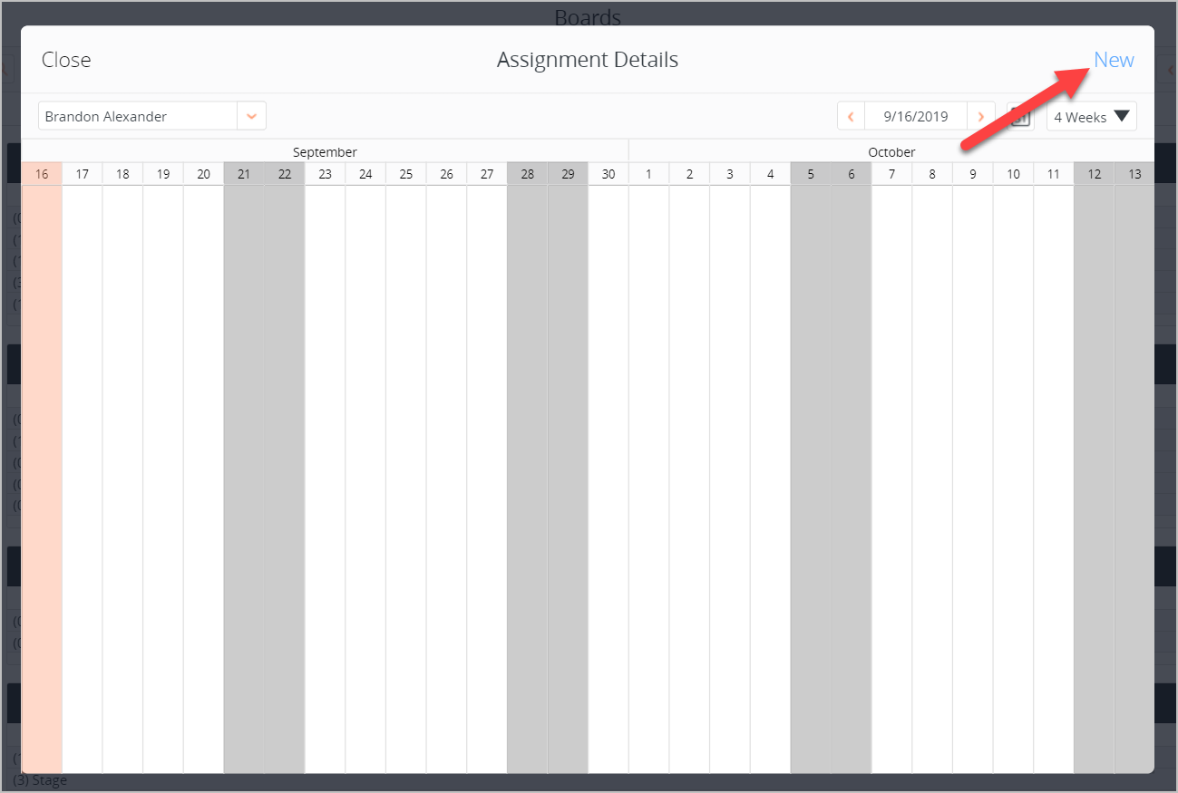 Gantt assignment