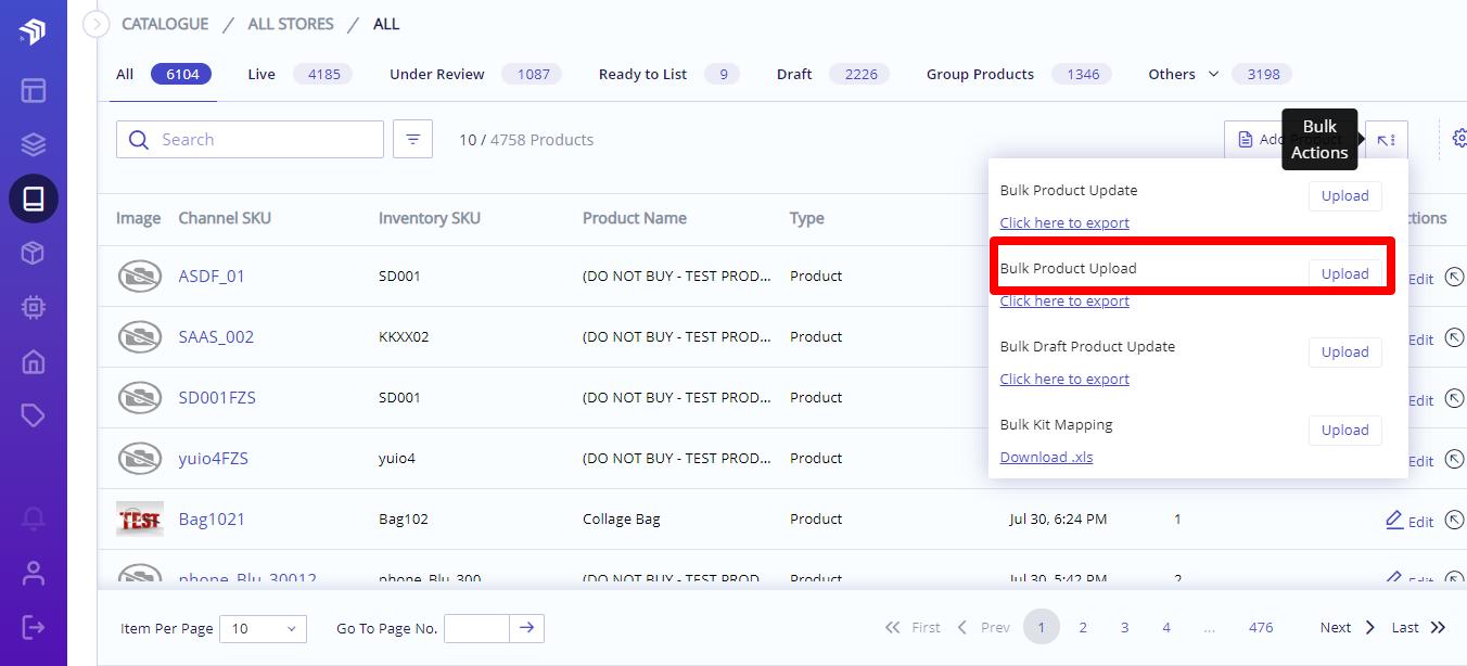 upload group list