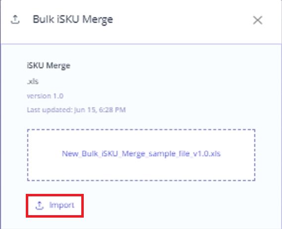 Bulk merge upload