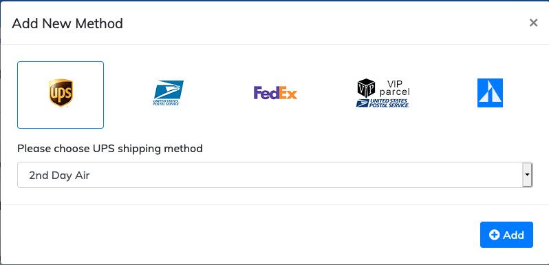 add new shipping method