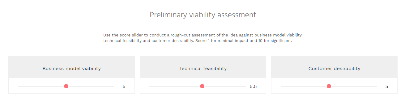 Preliminary viability assessment on Idea - Review