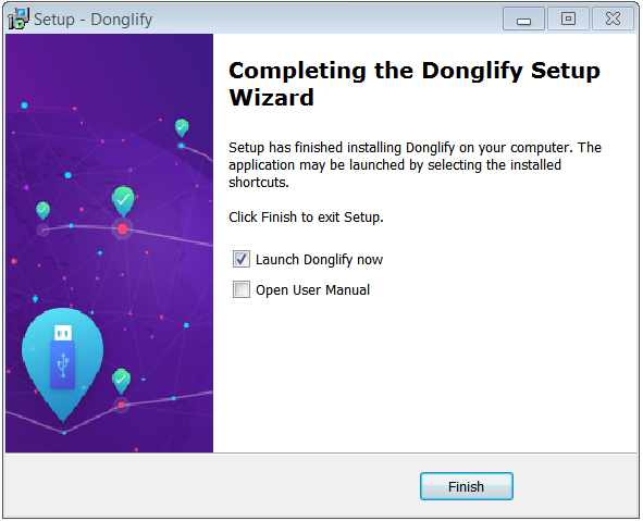 Donglify installation