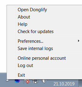Log in to your Donglify account