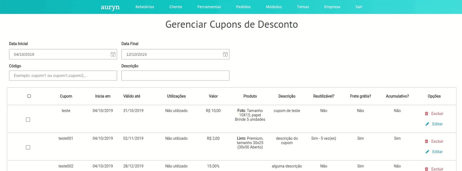 filtro_codigo_varios_cupons