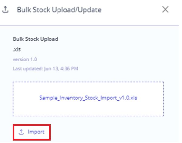 bulk import for stock-1