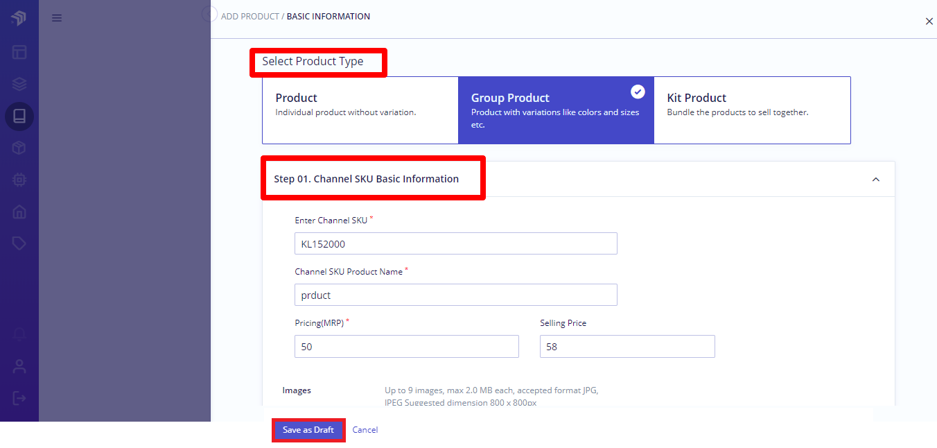add group product