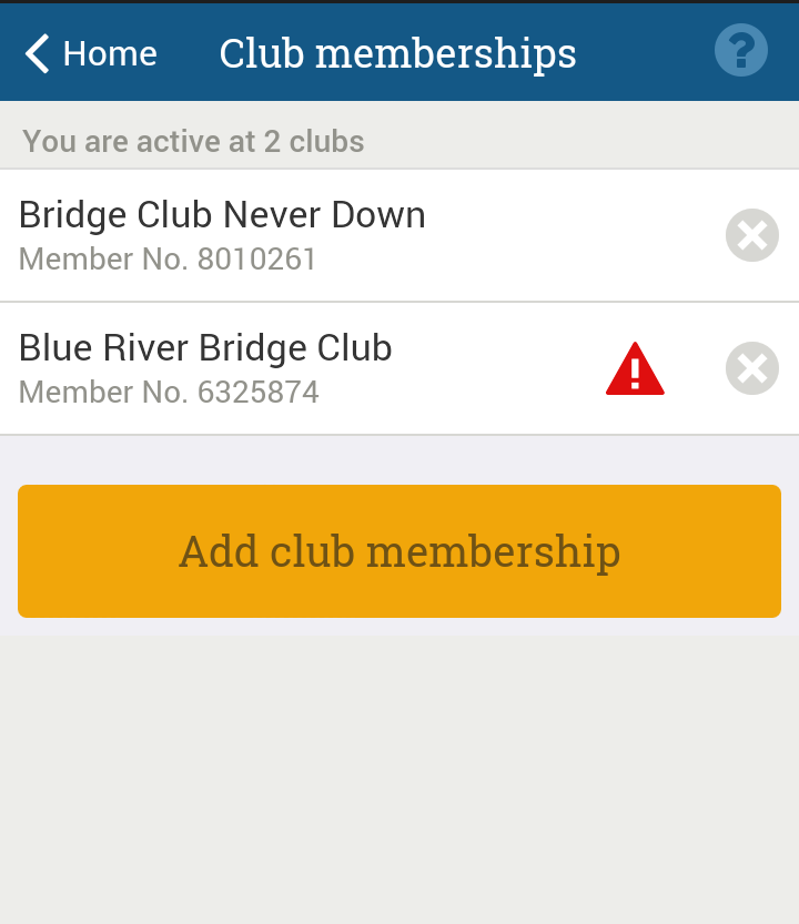 Membership registration pending