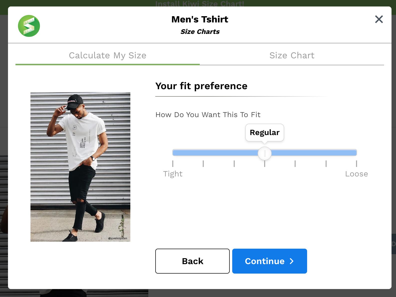Kiwi Sizing - Sizing plugin for Shopify and e-commerce platforms