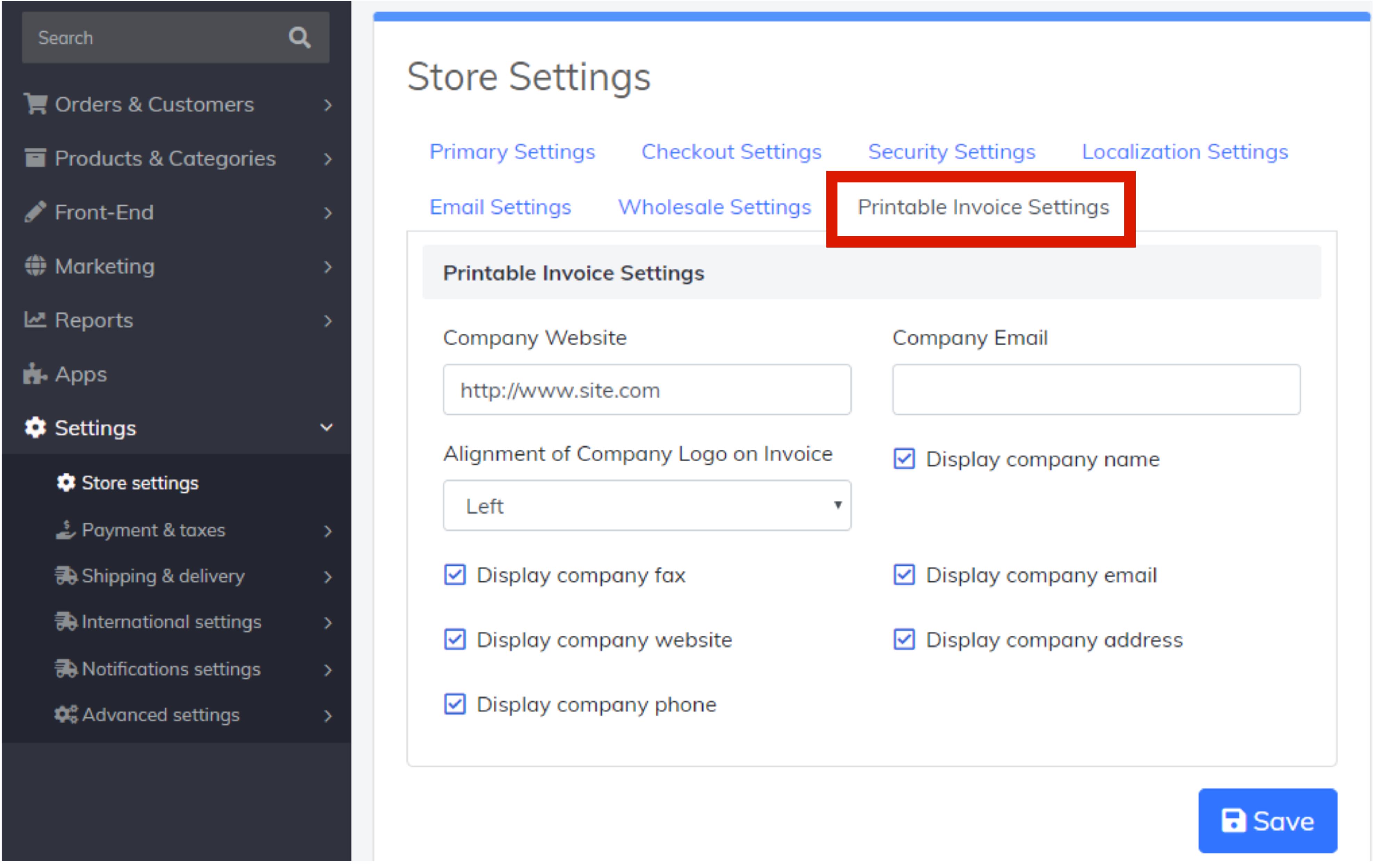 printable-invoice-settings