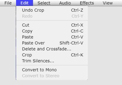 Audio Editing Tool - Edit file