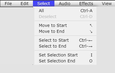 Audio Editing Tool - Select