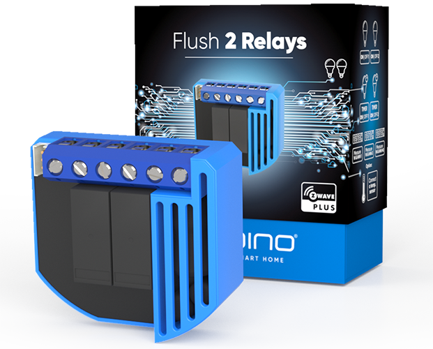 Flush 2 Relay product image with packing