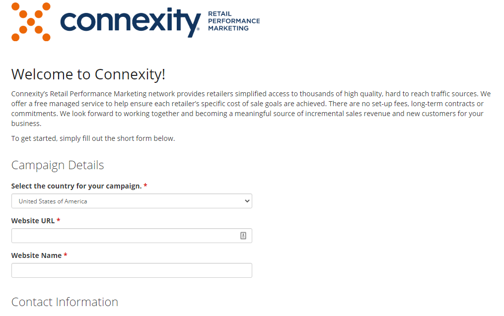 connexity sign up