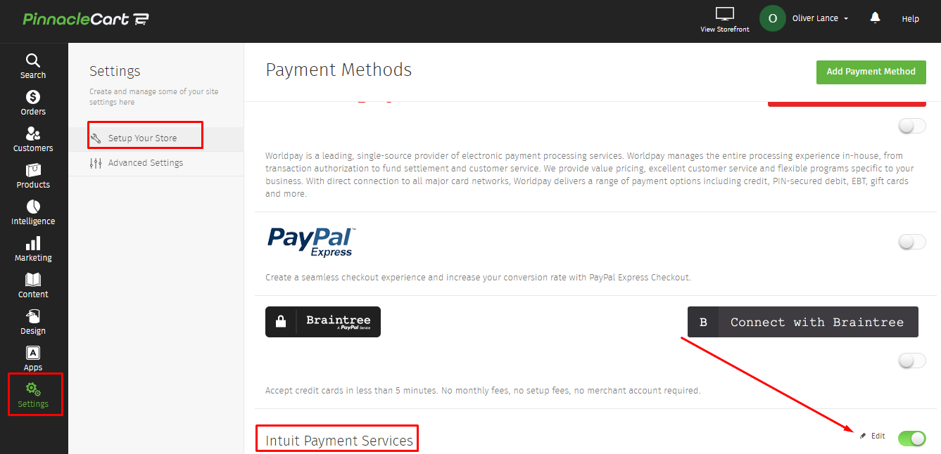 intuit payment services