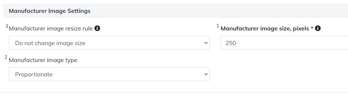 manufacturer image settings