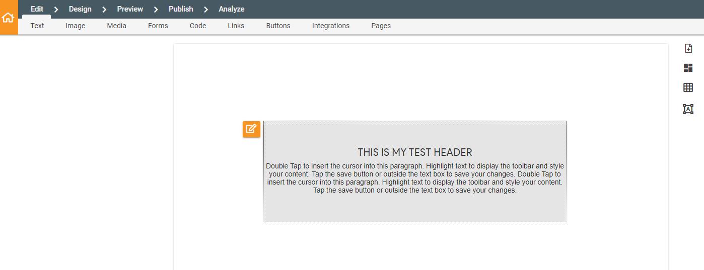 test header