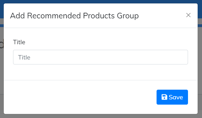 add recommend products group title