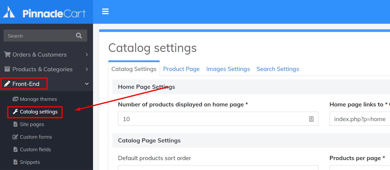 catalog-settings