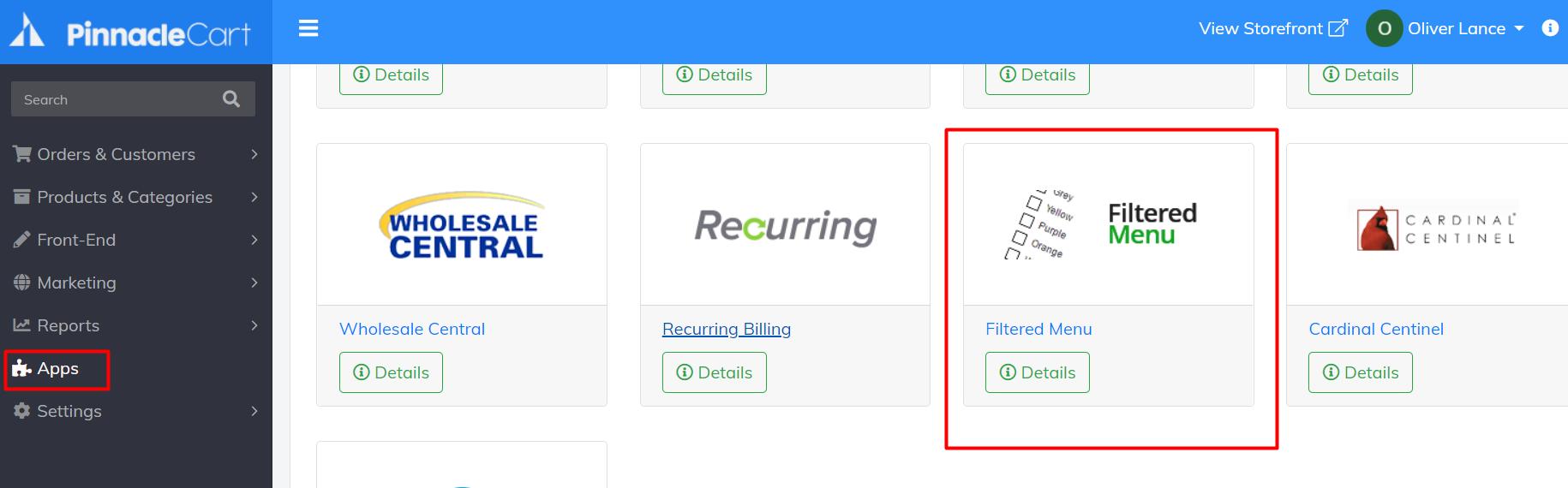 filtered-menu-app