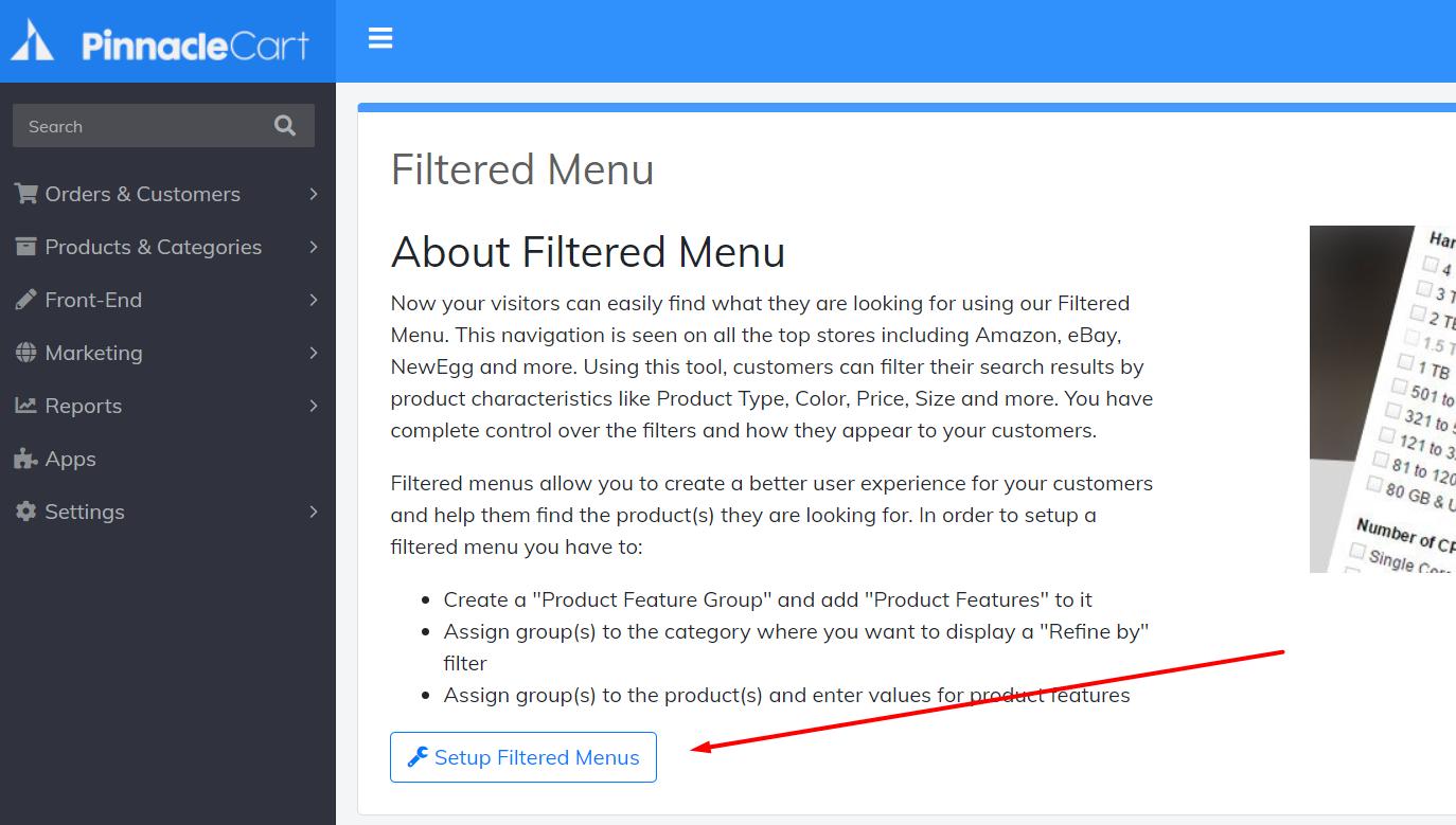 set-up-filtered-menus