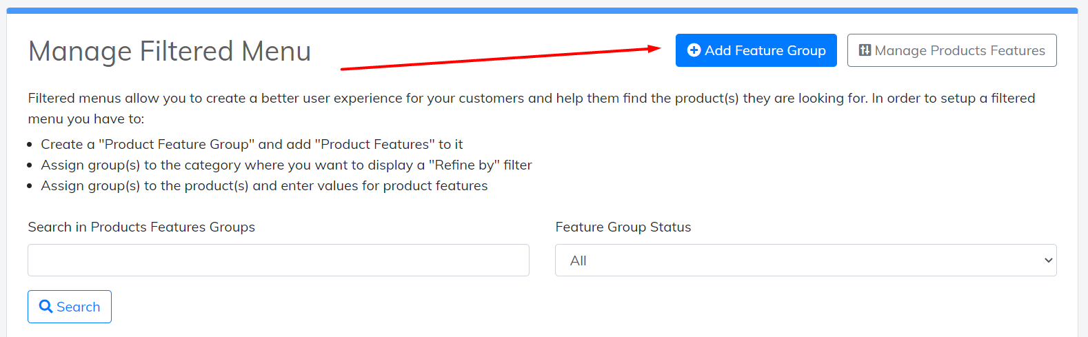 add feature group