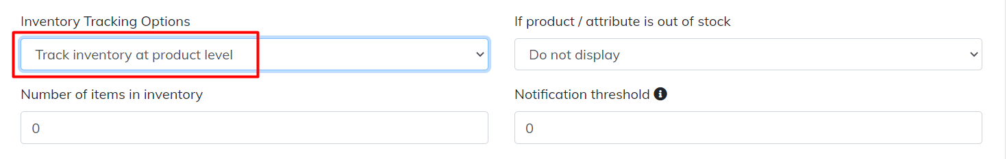 track inventory at product level
