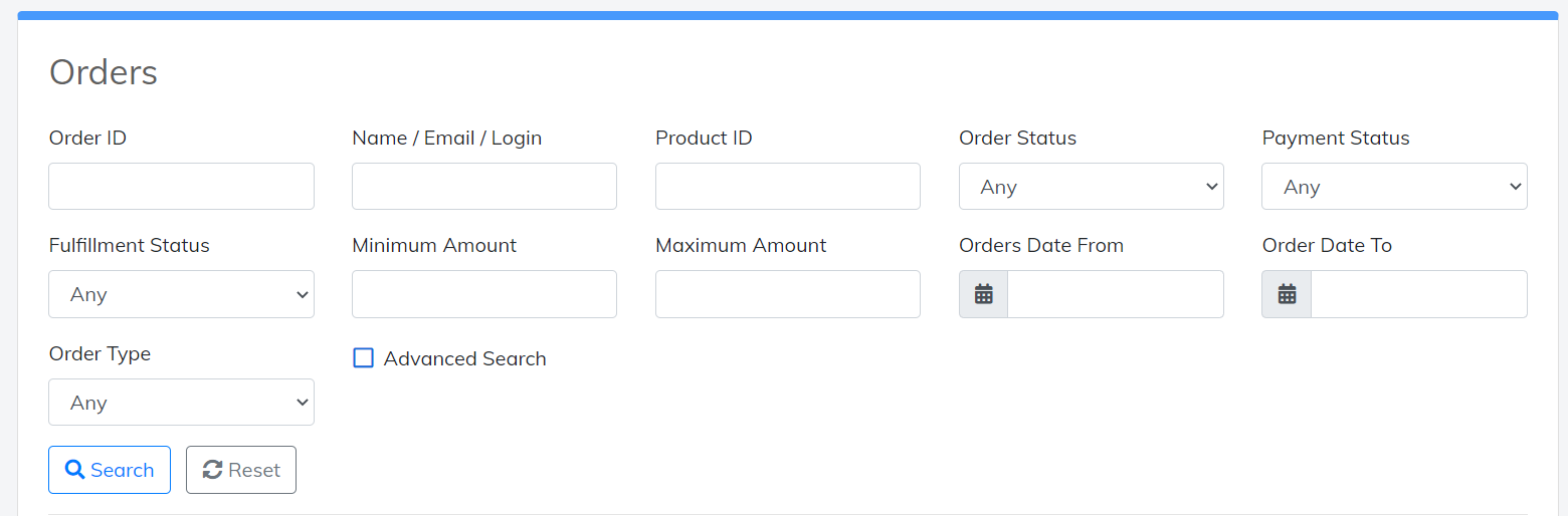 search orders