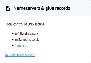 Manage Namservers