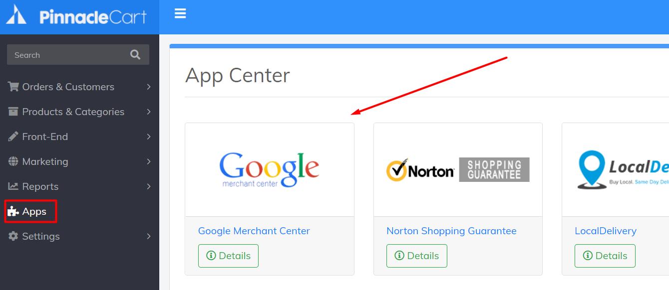 google merchant center app