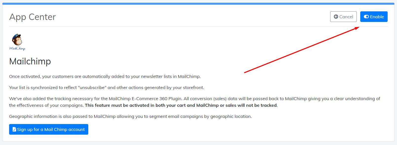enable-mailchimp-app