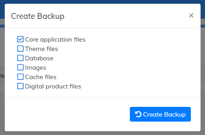 create backup for cart
