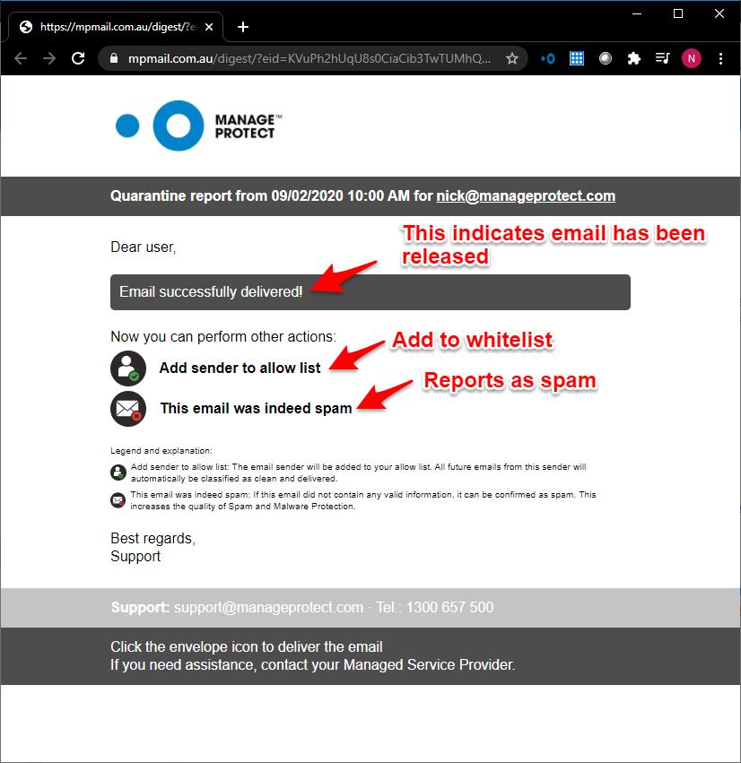 MPmail portal