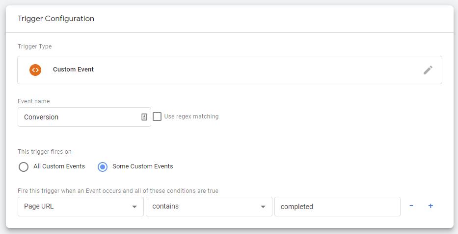 custom event trigger