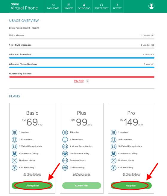 Omni Hotline Upgrade or Downgrade Plan