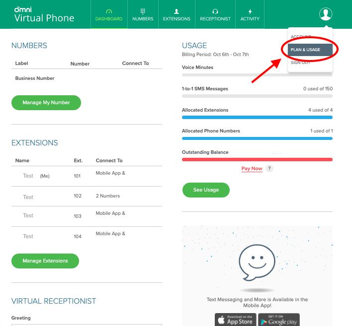 Omni Hotline Plan and Usage