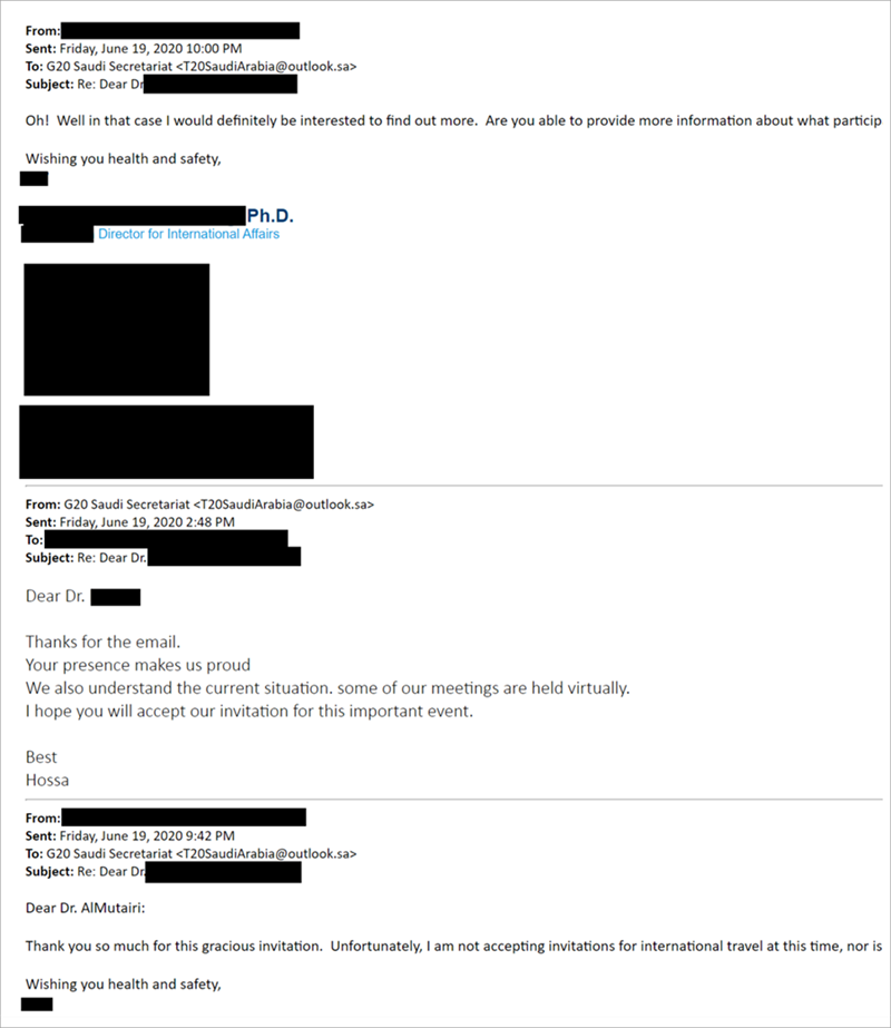 Email showing the attacker changing tactics due to COVID-19