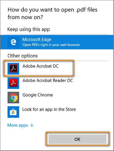 Choose Acrobat DC