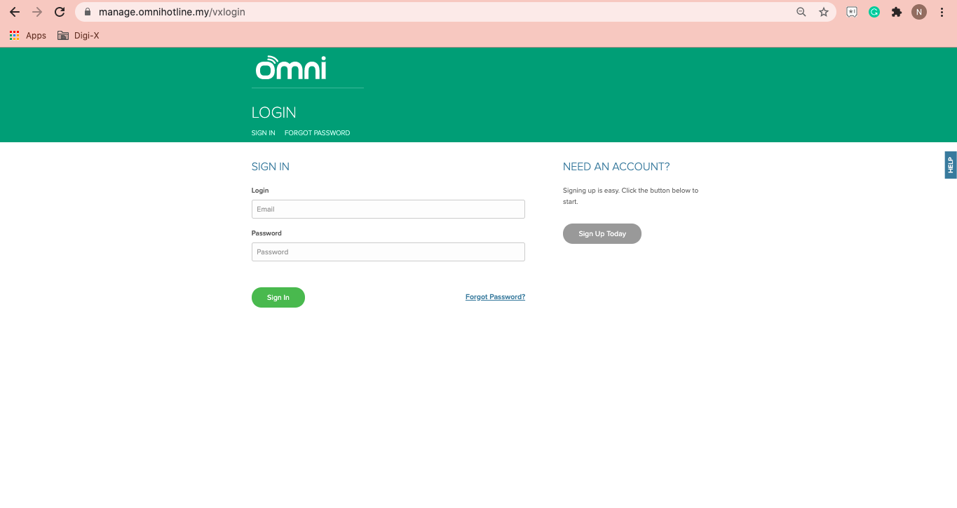 Omni Hotline Log In Page
